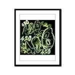 Green 420 Graffiti Collage Framed Panel Print