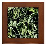 Green 420 Graffiti Collage Framed Tile