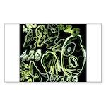Green 420 Graffiti Collage Sticker