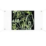 Green 420 Graffiti Collage Banner