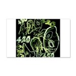 Green 420 Graffiti Collage Wall Decal