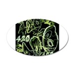 Green 420 Graffiti Collage Wall Decal