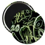 Green 420 Graffiti Collage Magnets