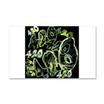 Green 420 Graffiti Collage Car Magnet 20 x 12