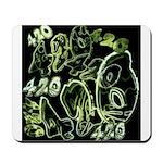 Green 420 Graffiti Collage Mousepad