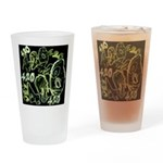 Green 420 Graffiti Collage Drinking Glass