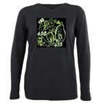 Green 420 Graffiti Collage Plus Size Long Sleeve T