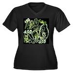 Green 420 Graffiti Collage Plus Size T-Shirt