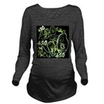 Green 420 Graffiti Collage Long Sleeve Maternity T