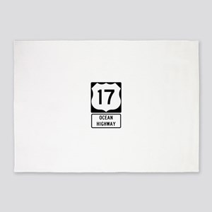 US Route 17 Ocean Highway 5'x7'Area Rug