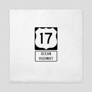 US Route 17 Ocean Highway Queen Duvet