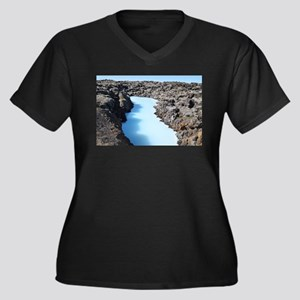 Blue Lagoon in Iceland Plus Size T-Shirt