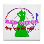 Very, Very Bad Witch Tile Coaster