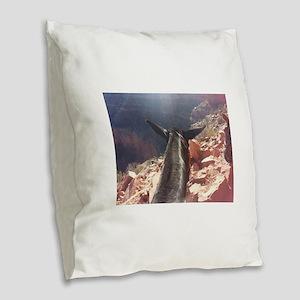 South Kiabab Grand Canyon Mule Burlap Throw Pillow