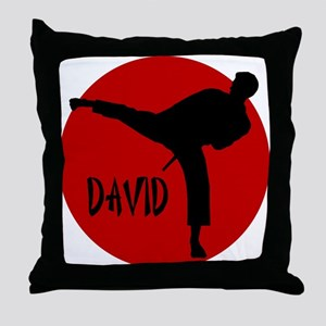 David Karate Throw Pillow