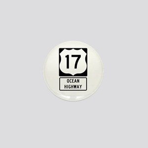 US Route 17 Ocean Highway Mini Button