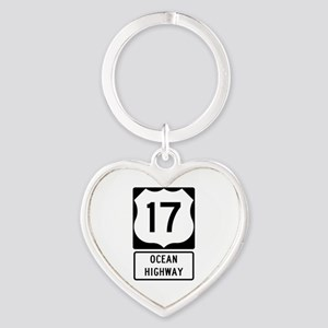 US Route 17 Ocean Highway Keychains