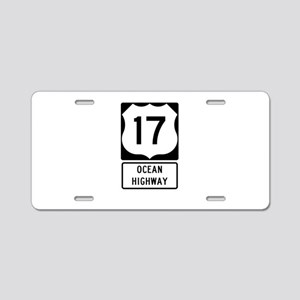 US Route 17 Ocean Highway Aluminum License Plate