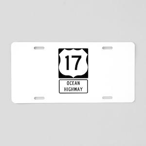 US Route 17 Ocean Highway Aluminum License Plate