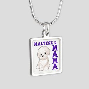 MALTESE MAMA Silver Square Necklace