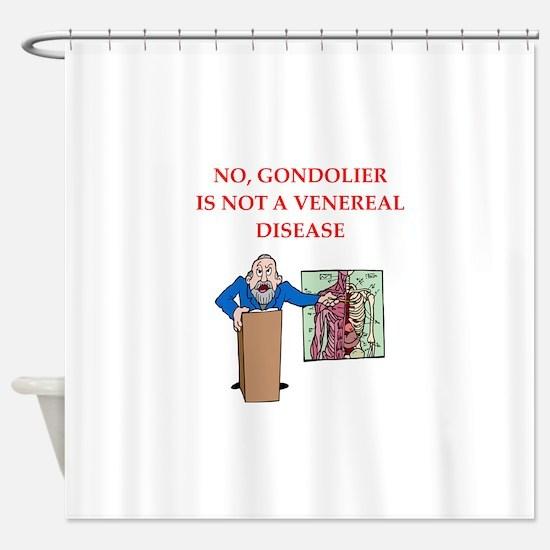 med school joke Shower Curtain