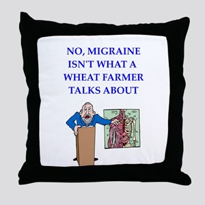 funny joke Throw Pillow