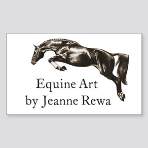 Equine Art by Jeanne Rewa Rectangle Sticker
