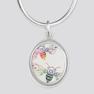 Multicolored Honeybee Doodles Necklaces