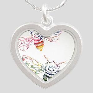 Multicolored Honeybee Doodles Necklaces