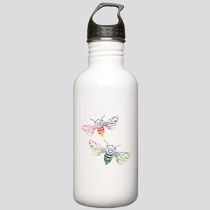 Multicolored Honeybee Stainless Water Bottle 1.0L