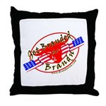 """Get Branded """" T.A.S."""" Throw Pillow"""
