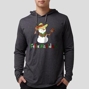 Feliz Navidad Snowman Long Sleeve T-Shirt