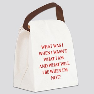 riddle Canvas Lunch Bag