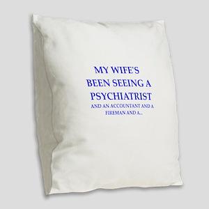 cheater Burlap Throw Pillow