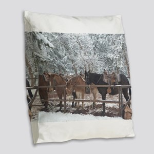 Mule Ride at the Grand Canyon Burlap Throw Pillow
