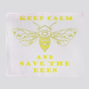 Keep Calm and Save the Bees Throw Blanket