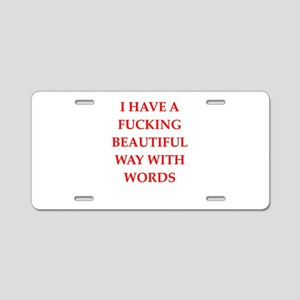 writer Aluminum License Plate