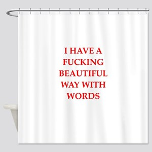 writer Shower Curtain