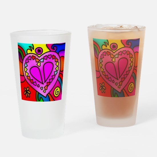 Cute Gaudy Drinking Glass