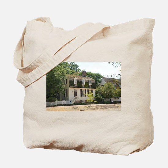 Historic Colonial Style Home Virginia Tote Bag