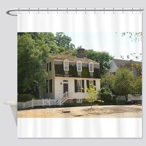 Historic Colonial Style Home Virgin Shower Curtain