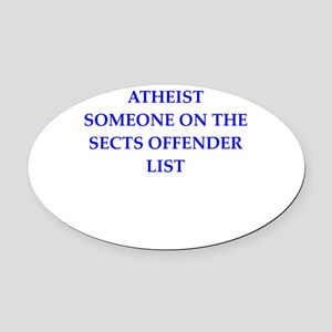 athiest Oval Car Magnet