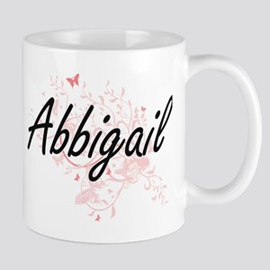 Abbigail Artistic Name Design with Butterflie Mugs