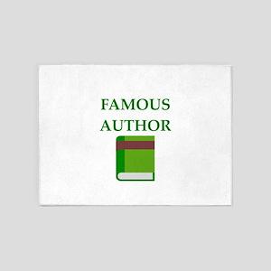 famous author 5'x7'Area Rug