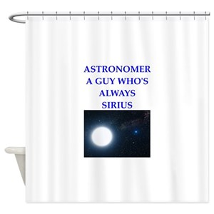 Funny Astronomy Shower Curtains