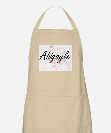 Abigayle Artistic Name Design with Butterfli Apron