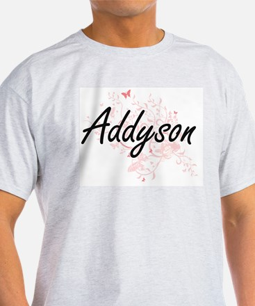 Addyson Artistic Name Design with Butterfl T-Shirt
