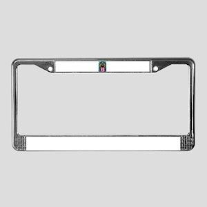 Rainbow Rottweiler License Plate Frame