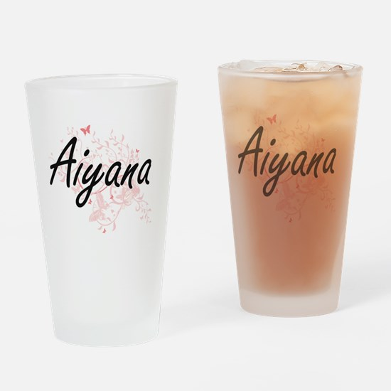 Aiyana Artistic Name Design with Bu Drinking Glass