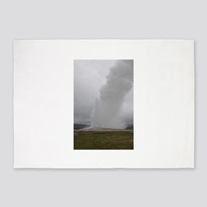 Old Faithful Geyser Yellowstone Nat 5'x7'Area Rug